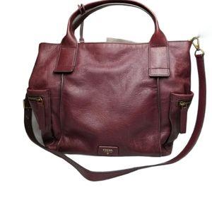 Fossil Leather Emerson Satchel Crossbody Bag